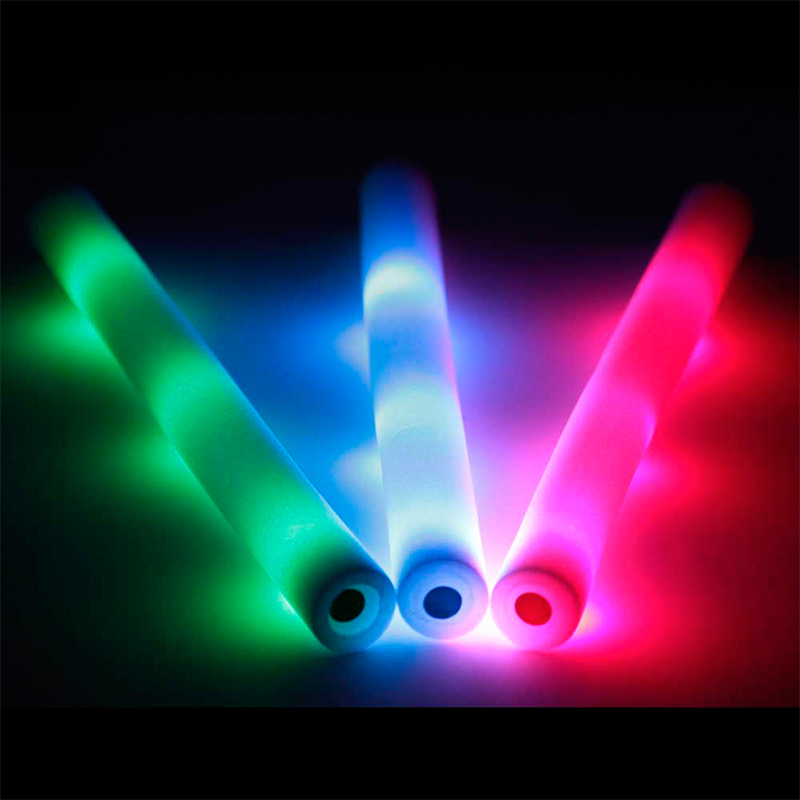 Palo de espuma Led. Especial para eventos. 47cm. Pilas incluidas. Color azul palos luminosos led color multicolor2