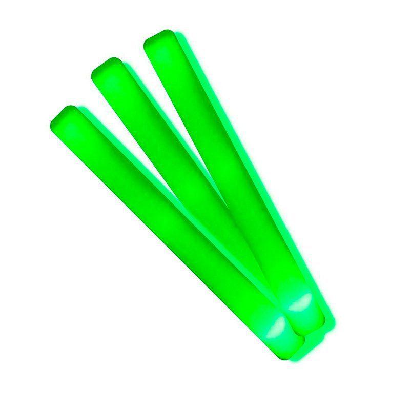 Palo de espuma Led. Especial para eventos. 47cm. Pilas incluidas. Color verde palos luminosos led color verde