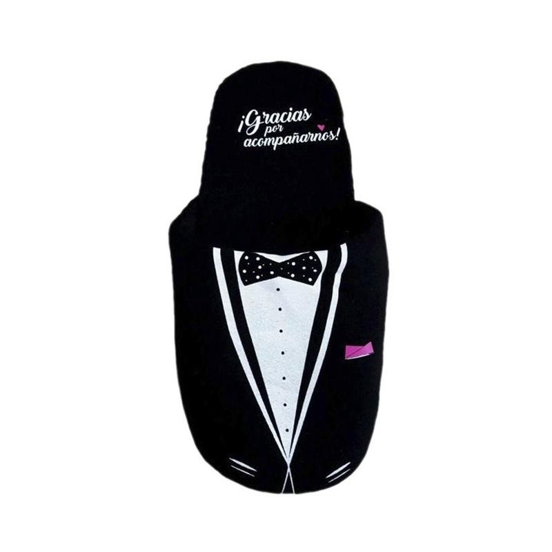 pantuflas de algodón para regalar en una boda