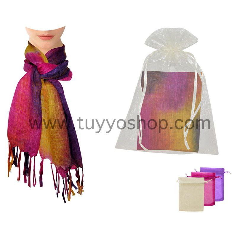 pañuelo para boda modelo summe presentado en bolsa de organza