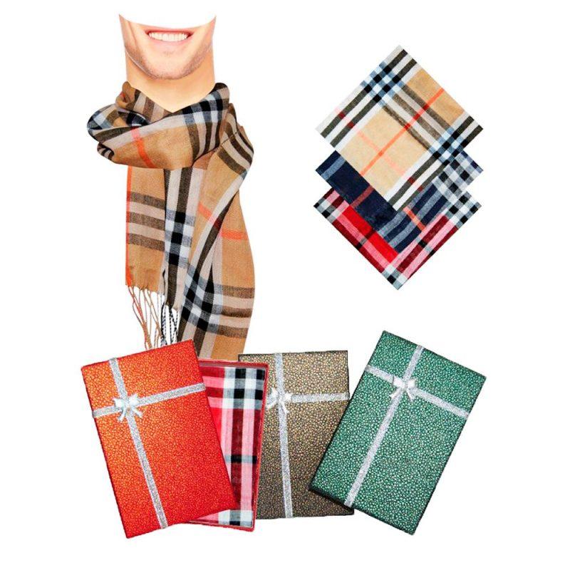 Pañuelo de hombre para boda en caja regalo. 3 colores surtidos