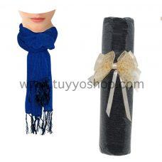 pañuelo liso presentado en lazo de tela