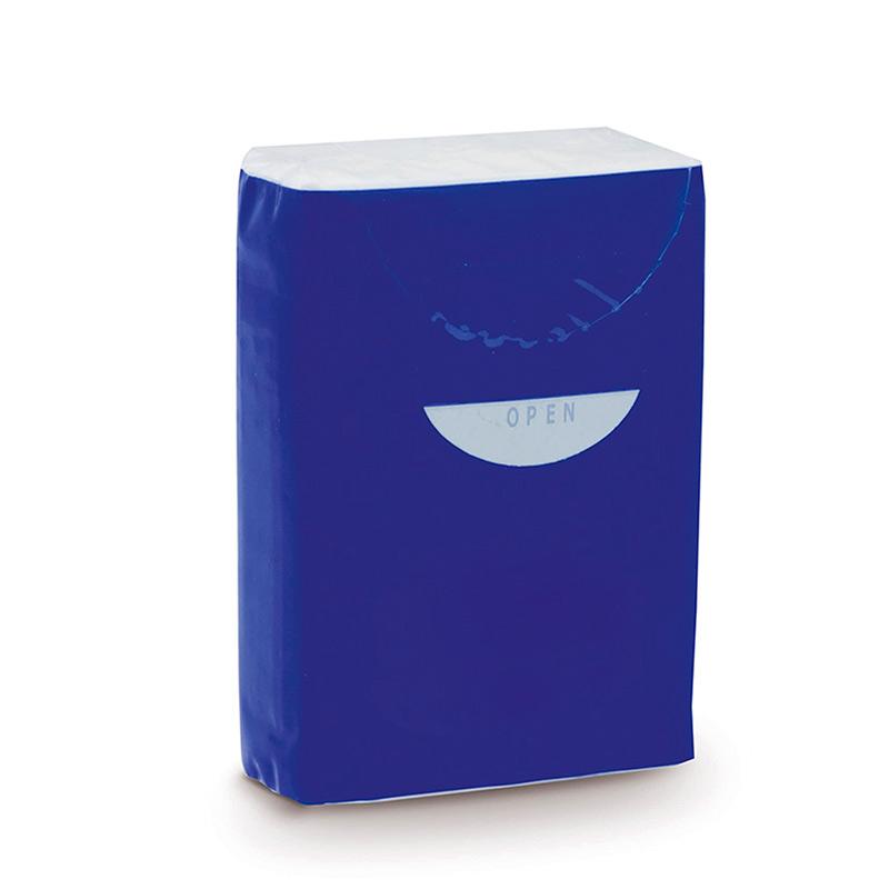 Paquete de pañuelos. 10 unidades. 3 capas. 5 colores.