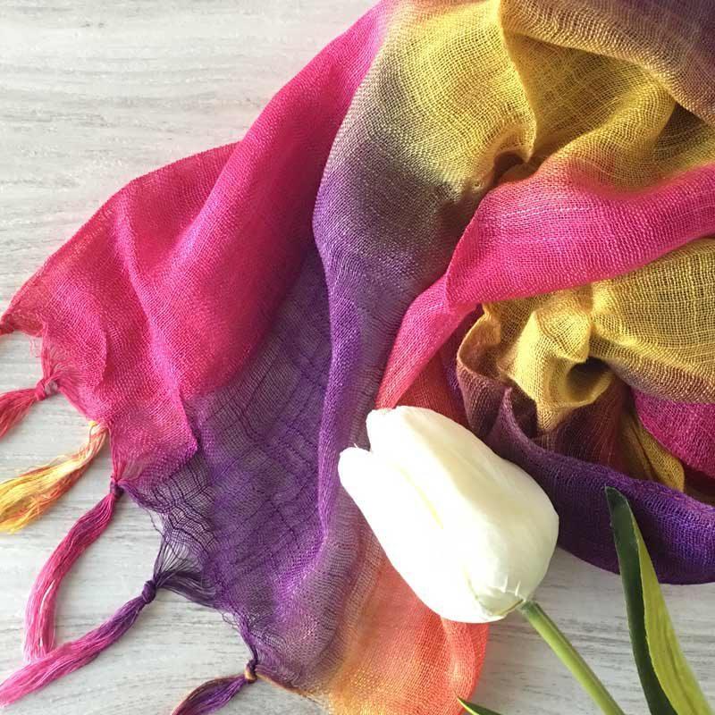 Pañuelo para boda modelo Summer con bolsa de organza pasmina para boda medelo summer detalles de bodas