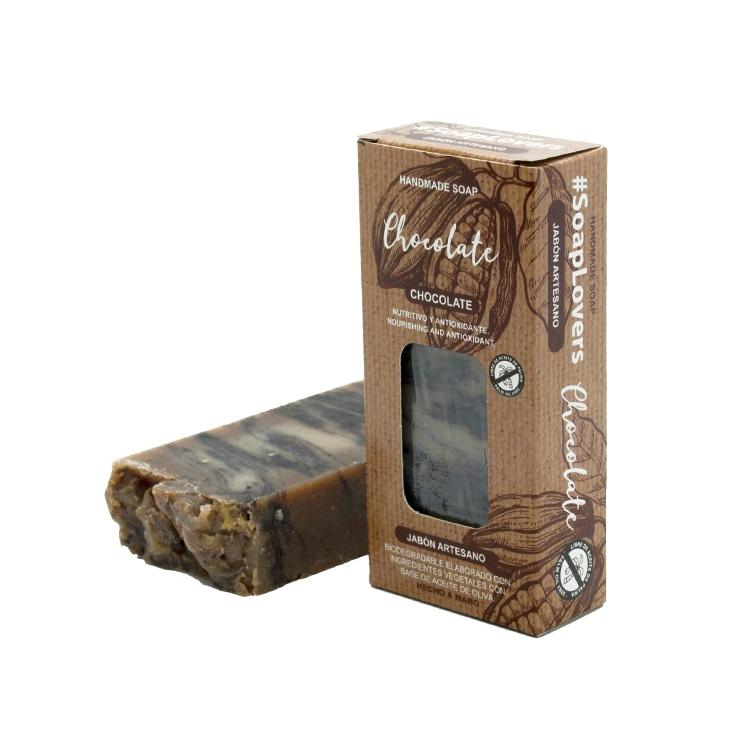 Pastilla de jabón artesano. Presentado en caja. Chocolate. 100gr.