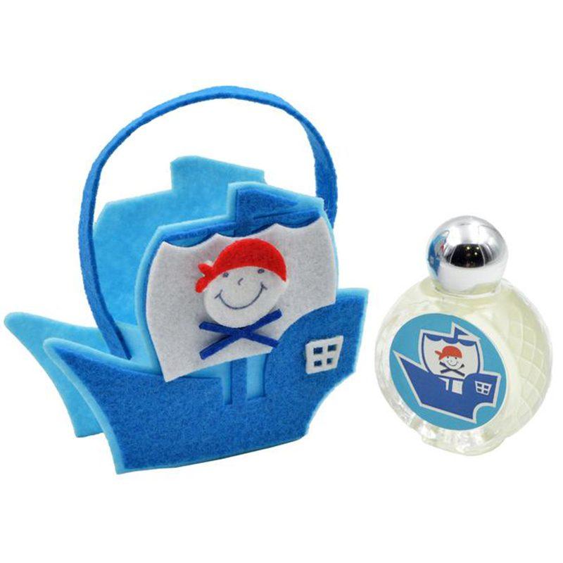 Perfume jazmín en barco pirata de fieltro. 9x12x4cm perfume jazmin en barco pirata de fieltro 9x12x4cm bautizo