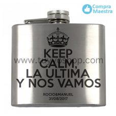 Petaca para invitados Keep Calm