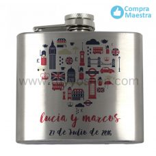 petaca para boda london heart