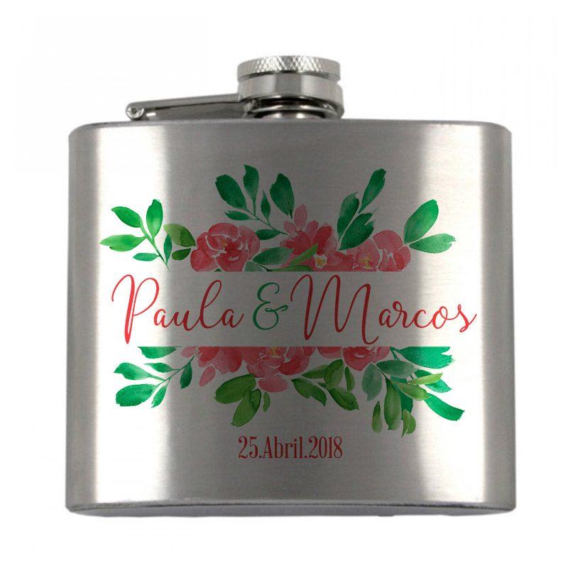 Petaca personalizada para boda. Modelo San Fernando