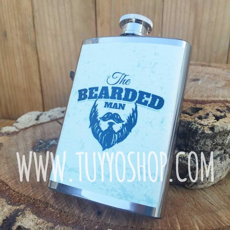 Petaca para boda personalizada Hombre Barba