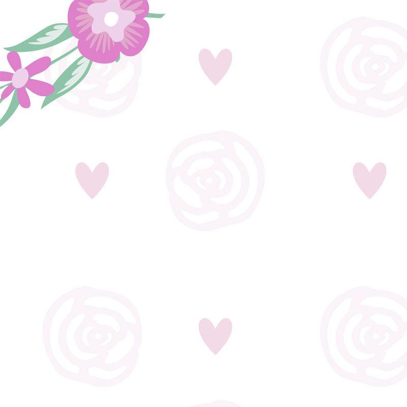 photocall para boda corazones y rosas