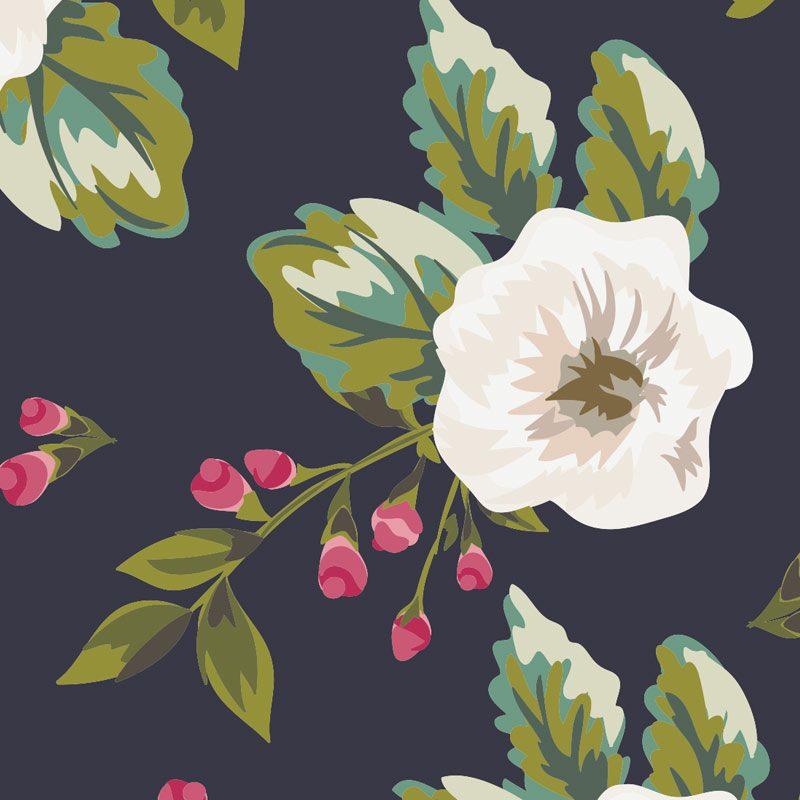 photocall para boda flores con fondo azul