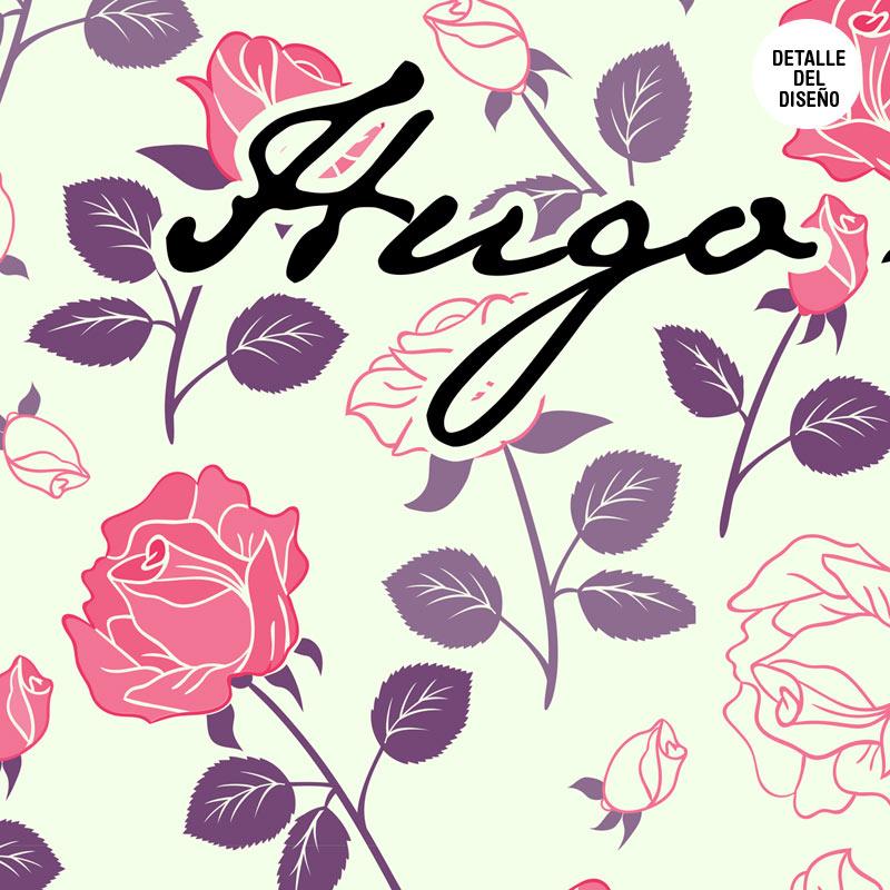 Photocall boda rosas lila