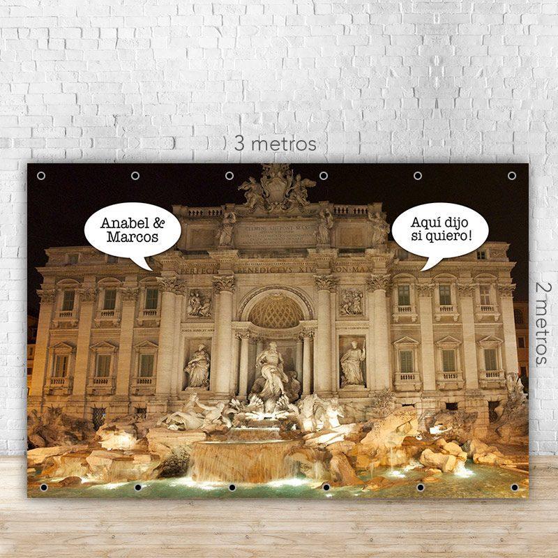 Photocall para boda fontana di trevi, con o sin soporte