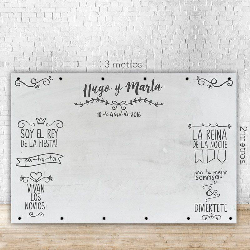 Photocall para boda modelo pizarra blanca