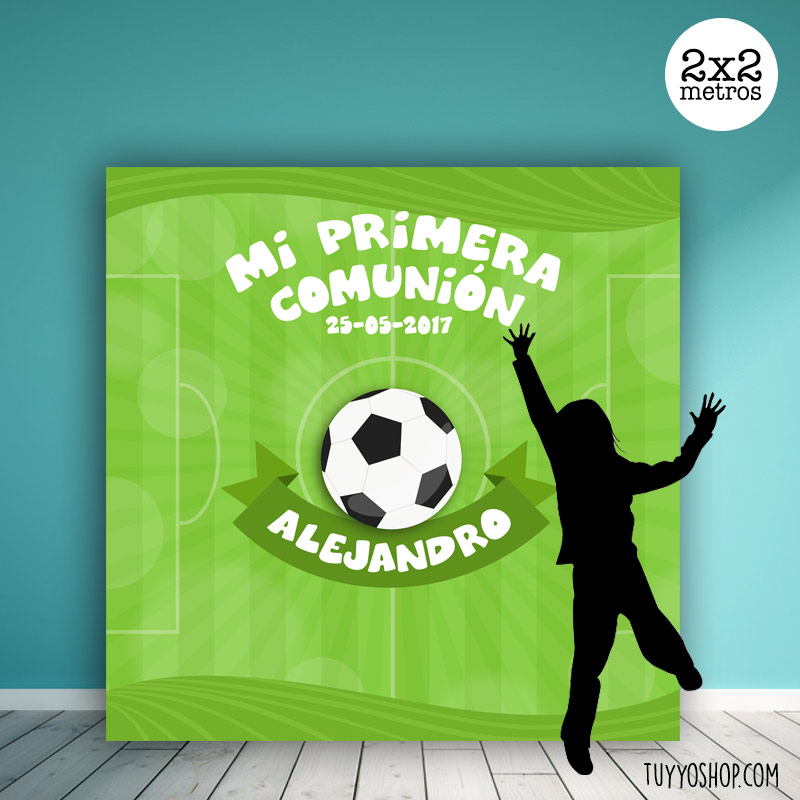 Photocall para comuniones, diseño fútbol