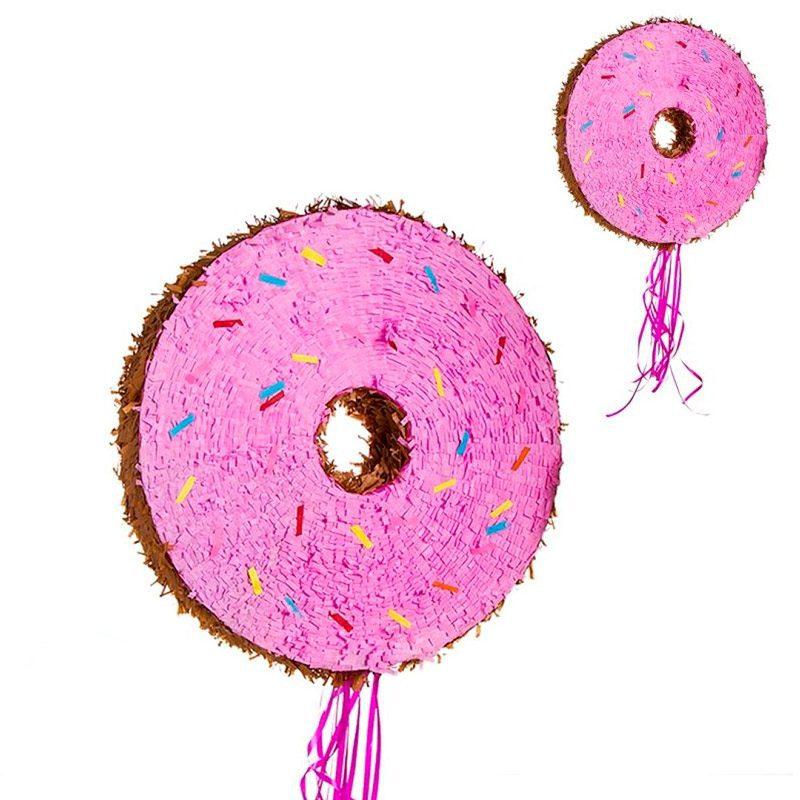Piñata para eventos. Modelo donut. 50x50cm