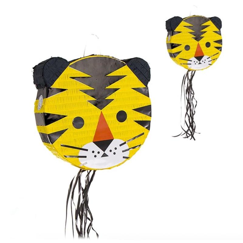 Original piñata para tirar. Modelo tigre. 37,8x37,8cm