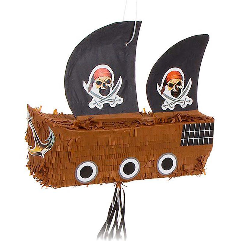 Piñata para eventos. Modelo barco pirata. 44x35cm pinata para eventos modelo barco pirata 44x35cm detalles originales