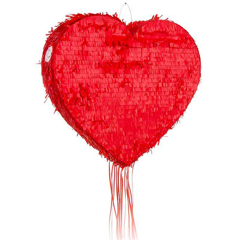 Piñata para eventos. Modelo corazón. 50x50cm pinata para eventos modelo corazon 50x50cm detalles