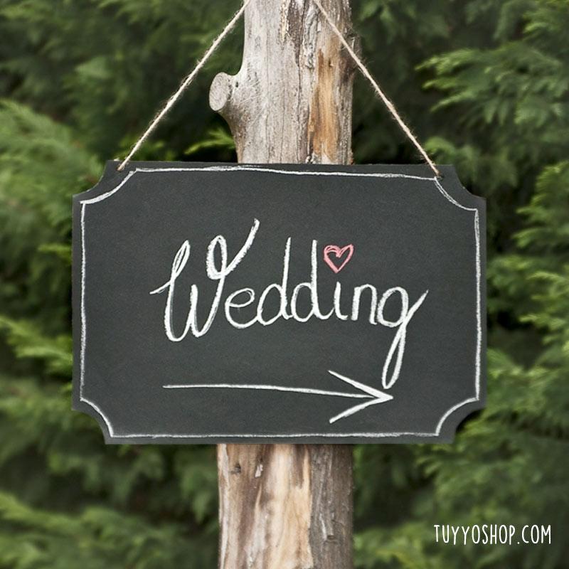 Pizarra grande para boda