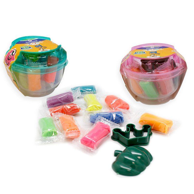 Plastilina mini cubo 10 colores