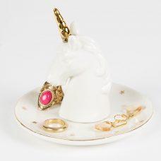Platito anillero diseño unicornio.