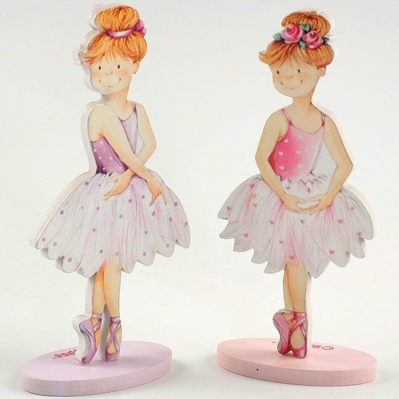 Portafotos de madera niña ballet.