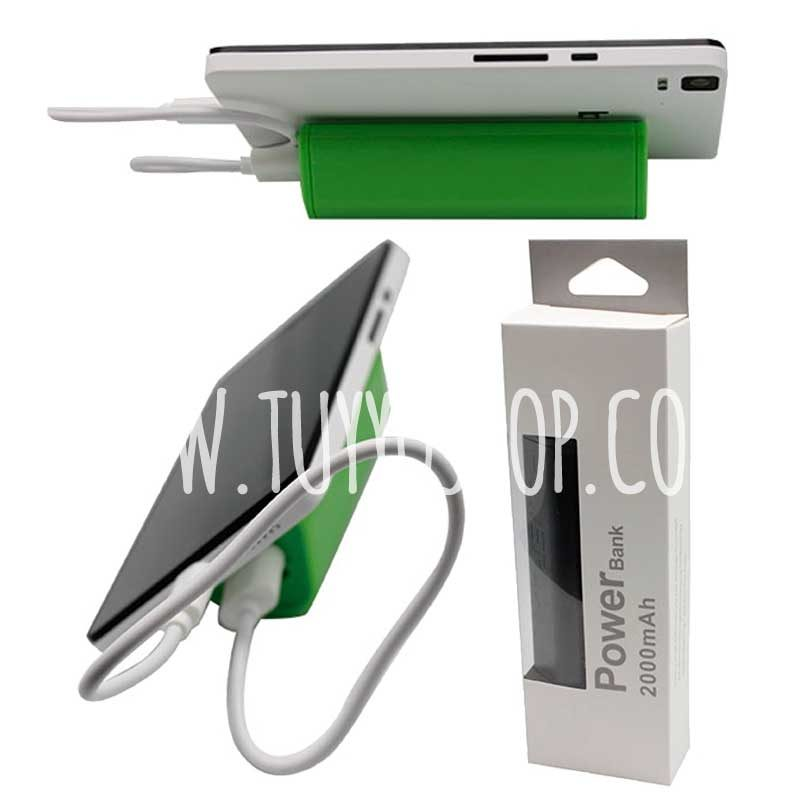 Cargador USB Power Bank con ventosa