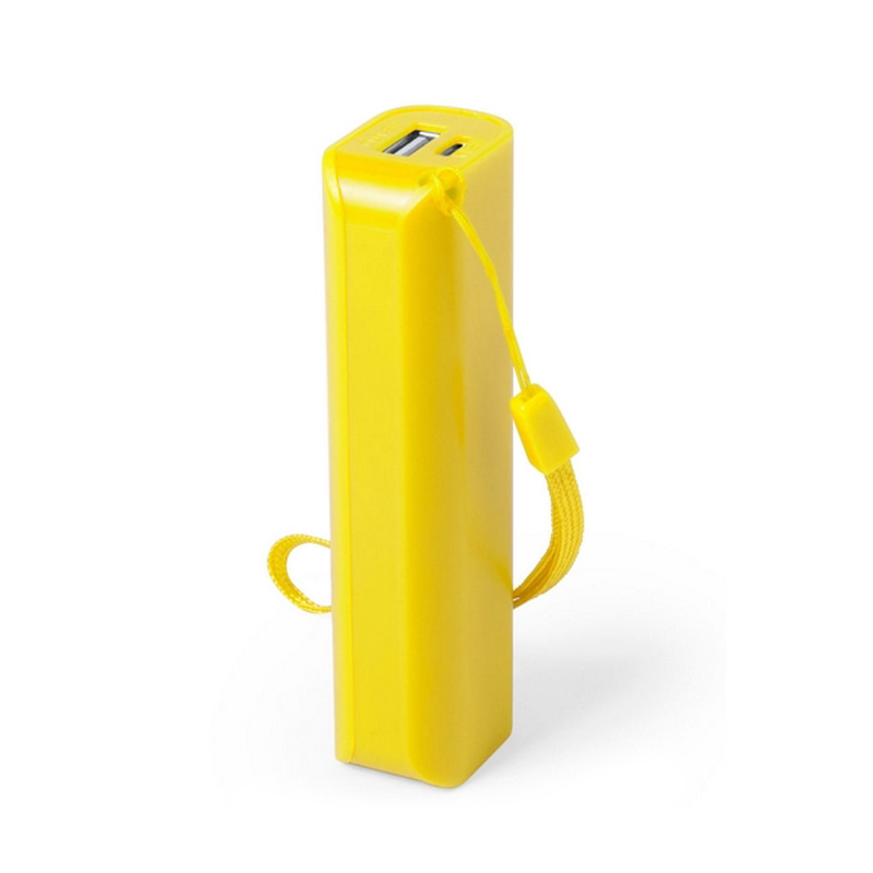 Power bank para boda en color amarillo