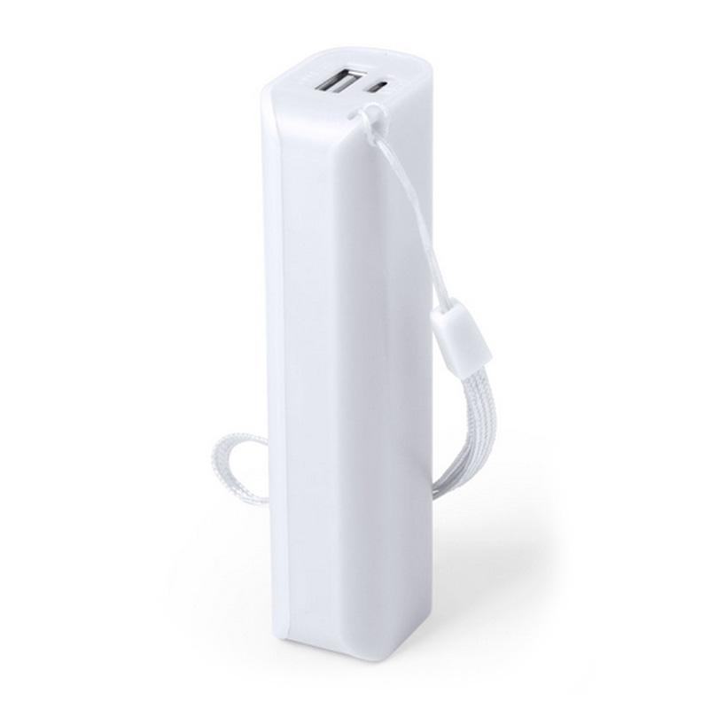 Power bank para boda en color blanco