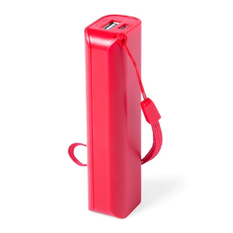 Power bank para boda en color rojo