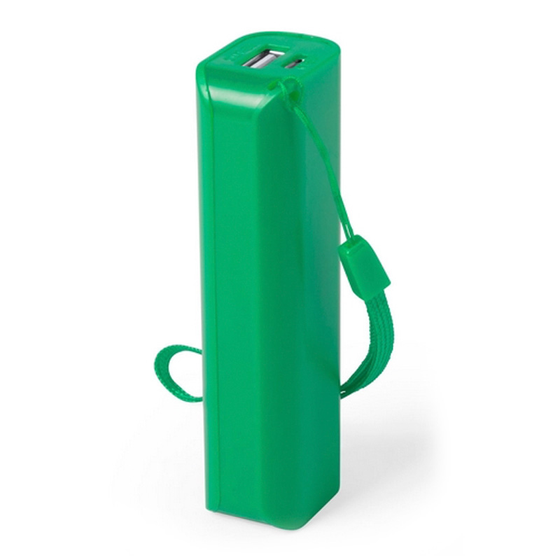 Power bank para boda en color verde