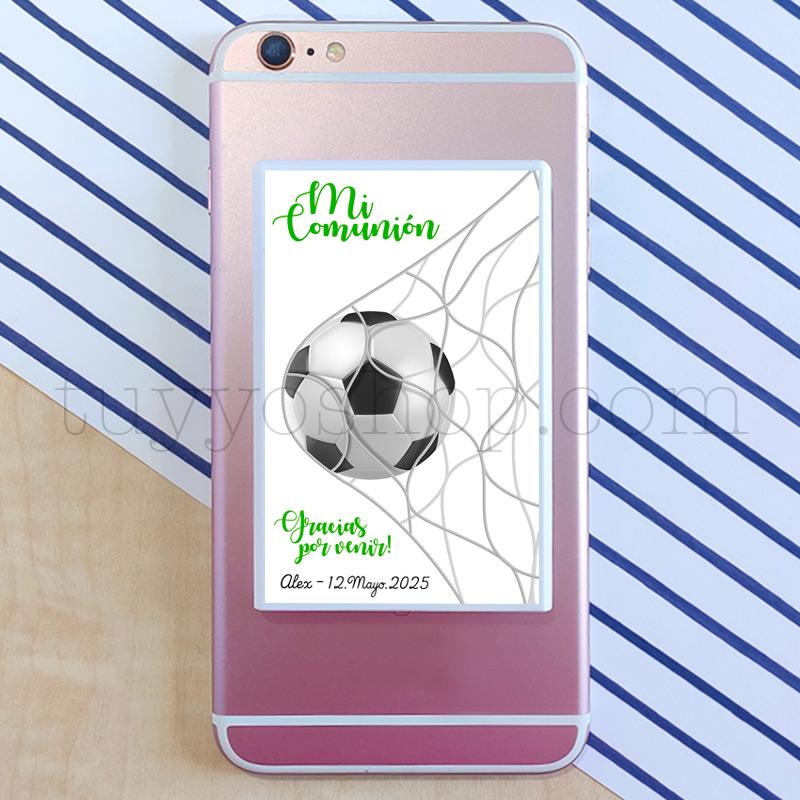 Powerbank personalizada para comunión, modelo fútbol powerbank para movil futbol