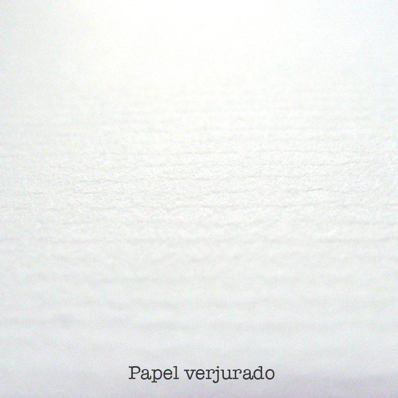 papel verjurado para invitaciones de boda