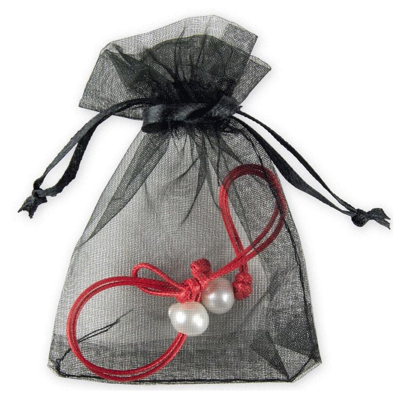 Pulsera para boda. Perlada. En bolsa de organza. 2 colores.