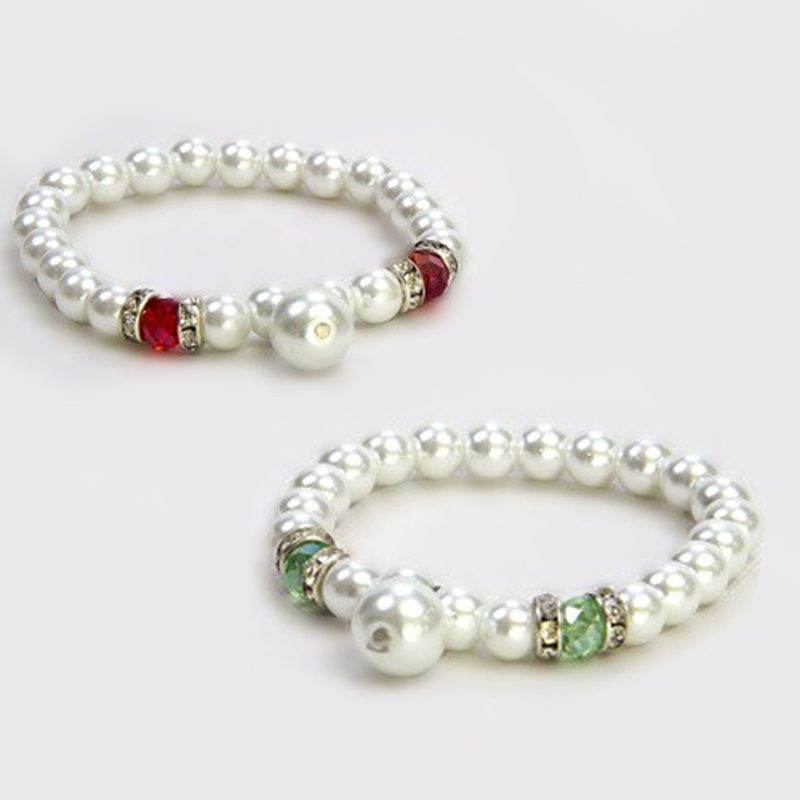 Pulsera de perlas laterales pulsera de perlas laterales sin caja detalles de boda para mujeres