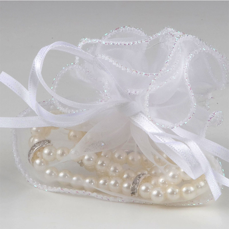 Pulsera doble perlas en bolsa de organza