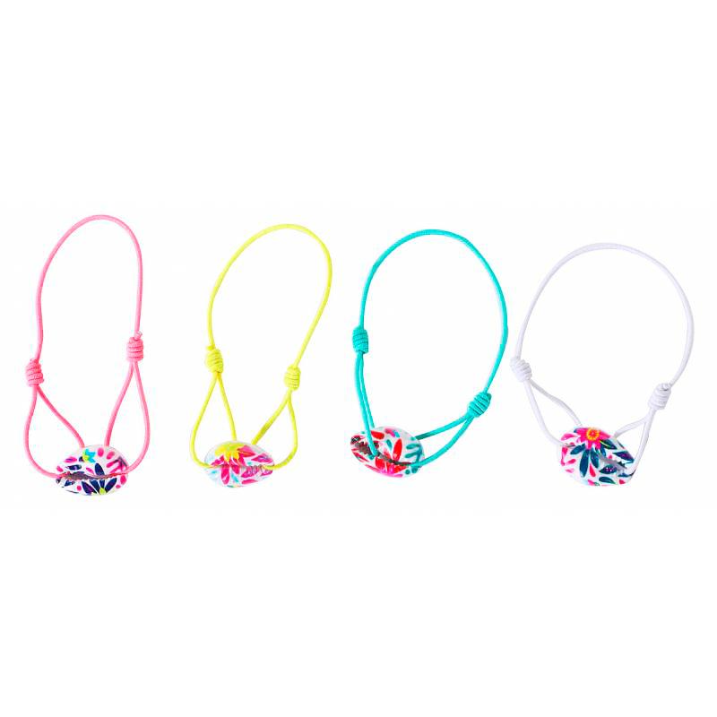 Ultimos regalos para invitados añadidos pulsera infantil caracolas de colores 4 colores
