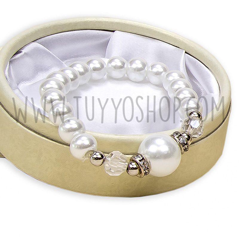 pulsera para chicas con perla central