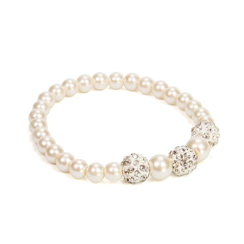 Pulsera perlas blanca nacarada para boda