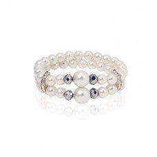 pulsera de perlas modelo white