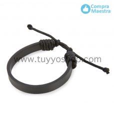 pulsera de polipiel en color negro