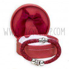 pulsera brillo color rojo