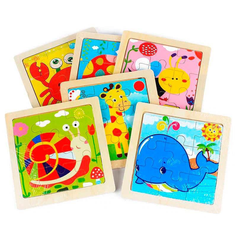 Ultimos regalos para invitados añadidos puzzle animalitos infantil varios modelos