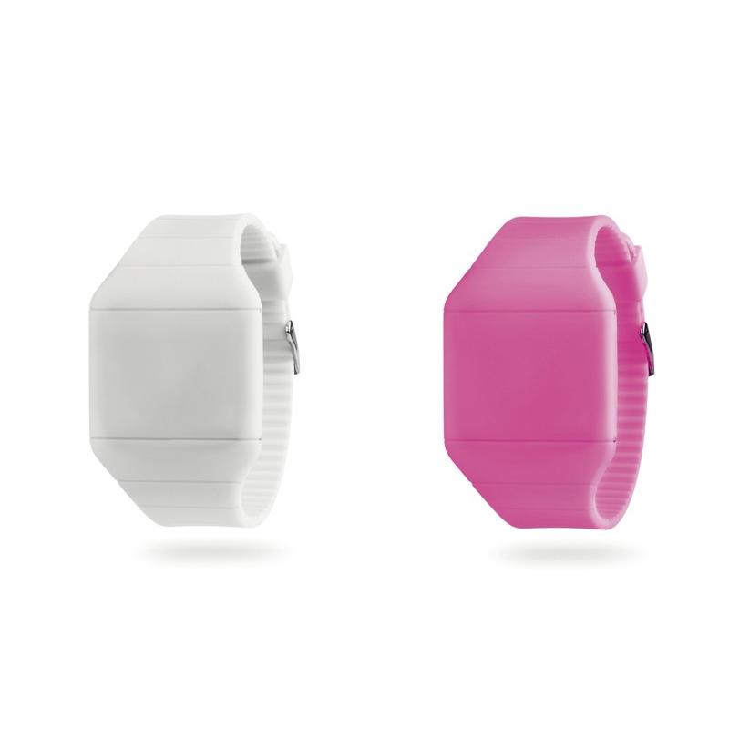 Reloj de silicona con led, en varios colores.