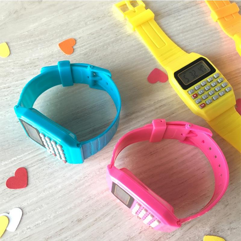 Reloj calculadora para niños