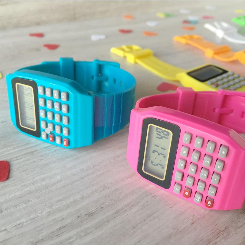 Reloj calculadora para los peques