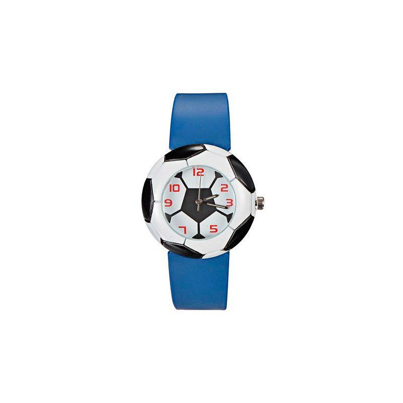 Reloj para niños, modelo balón de fútbol. 3 colores surtidos.