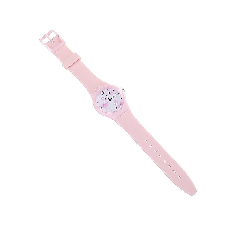 Reloj con esfera de flamencos y colores pastel. Surtidos.